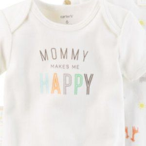 ** 8 for $25 ** Carter's Mommy Makes Me Happy 6m
